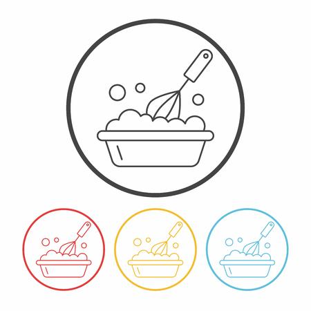 kitchenware beater line icon