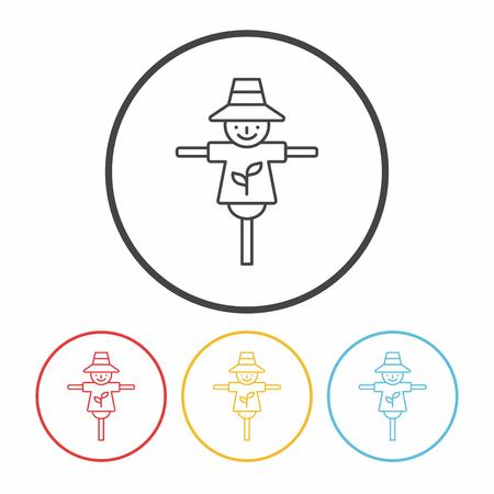 Scarecrow line icon
