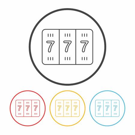 slot: Slot Machine line icon