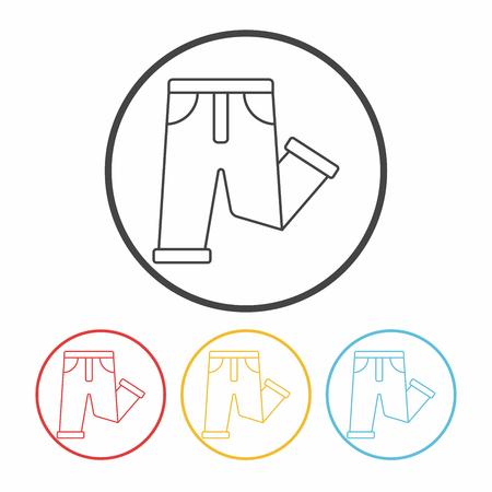 pants: pants line icon Illustration