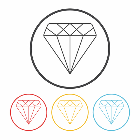 carats: diamond line icon