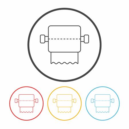 sanitary napkin: tissue line icon