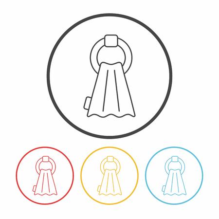 towel: towel line icon