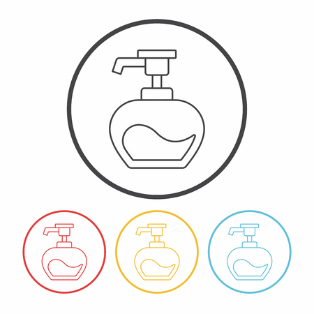 moisturizer: shampoo line icon