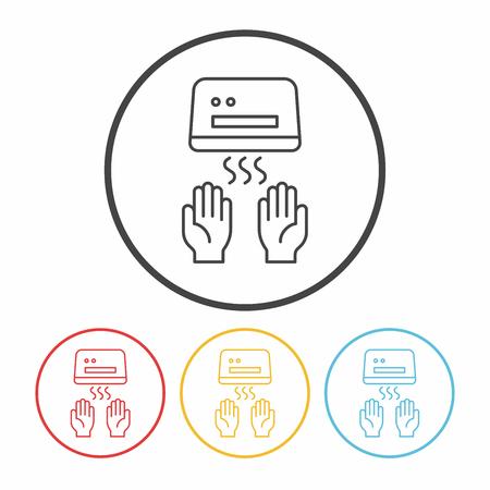 dryer: Hand dryer line icon