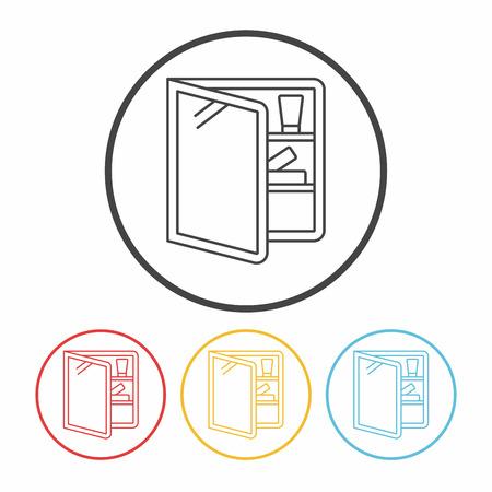 washbasin: mirror washbasin line icon
