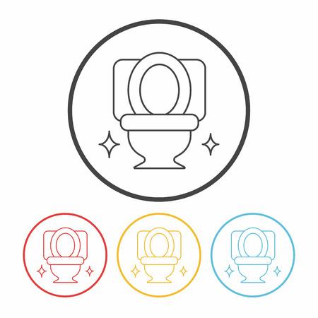 seat: Toilet seat line icon