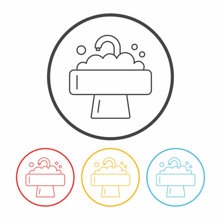 sink: Sink line icon Illustration