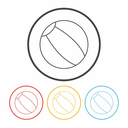 bounce: beach ball line icon