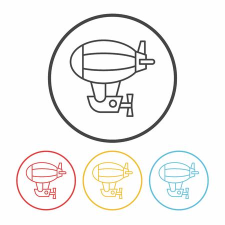 luftschiff: Luftschiff-Liniensymbol Illustration