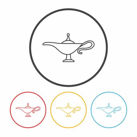 magic lamp: Magic Lamp line icon Illustration