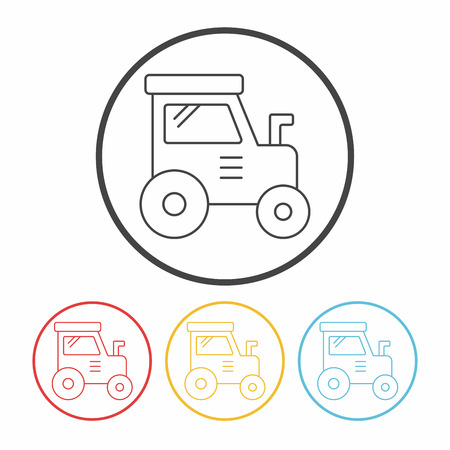 cargo truck: cargo truck line icon