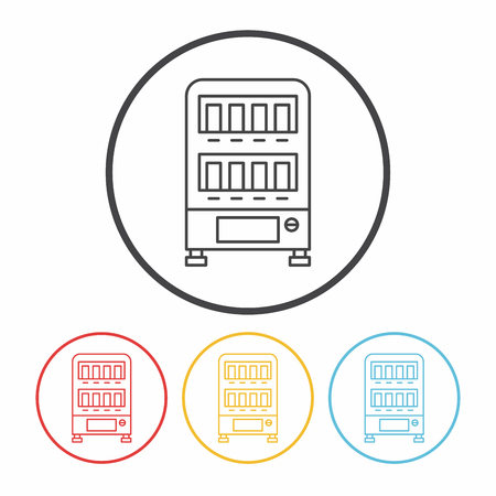 vending: vending machine line icon Illustration