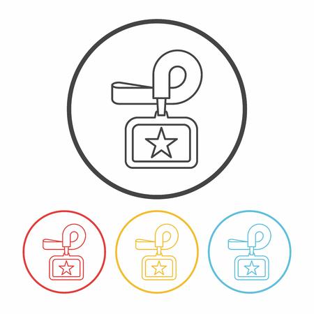 personalausweis: Identifikationskarten line icon Illustration