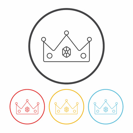 coronation: crown line icon Illustration