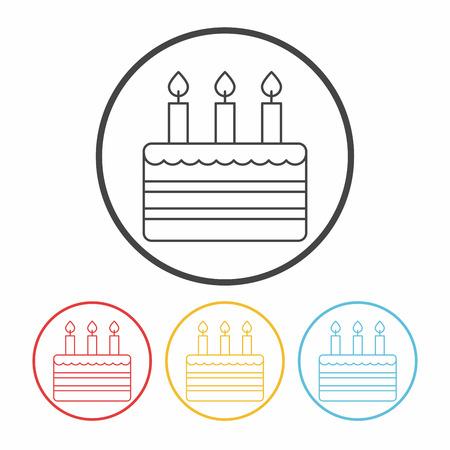 cake line icon