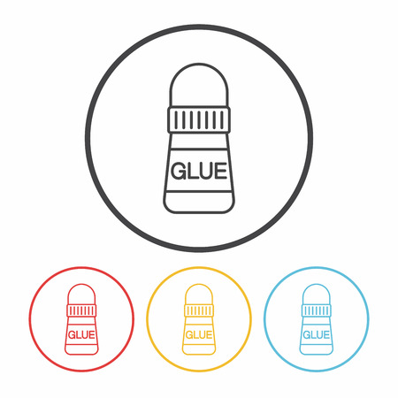 glue: icono de l�nea de cola Vectores