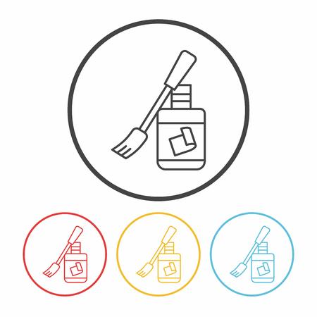 resistol: icono de línea de cola Vectores