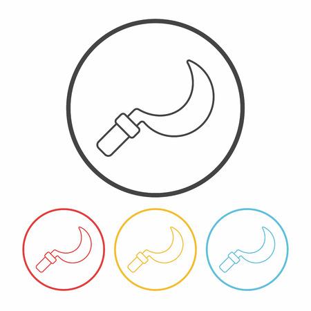 sickle: Sickle line icon Illustration