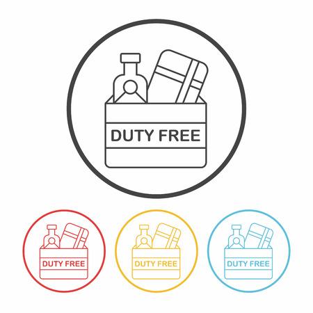 duty: duty free line icon