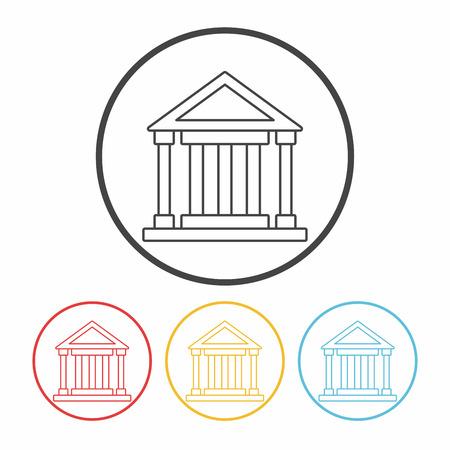 governmental: court line icon