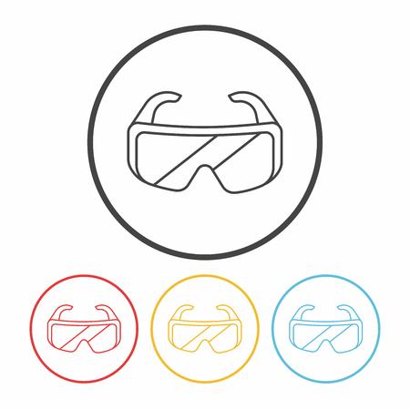 Goggle lijn pictogram