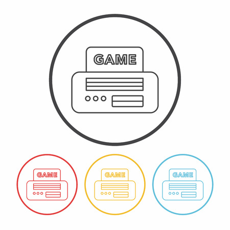 handheld device: video game line icon Illustration