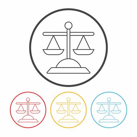 notary: Balance line icon