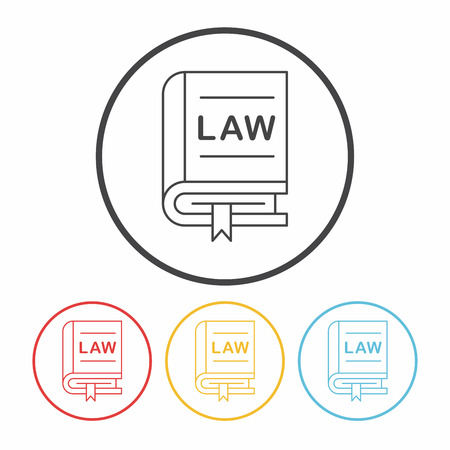 barrister: law line icon