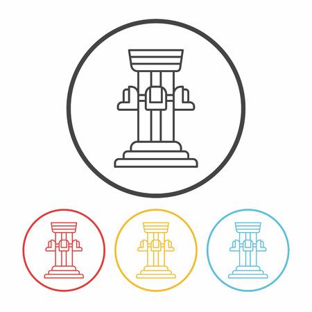 caida libre: icono de l�nea torre de ca�da parque de diversiones Vectores