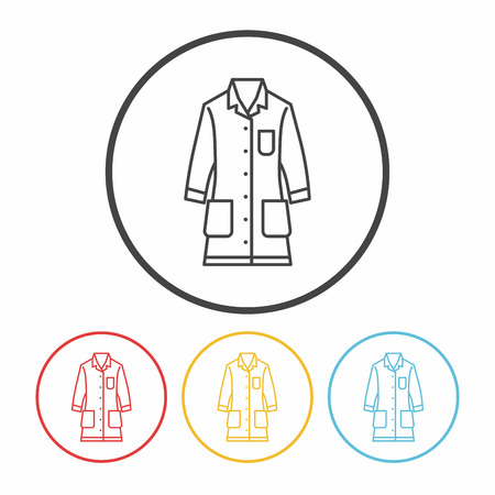 Lab coat line icon