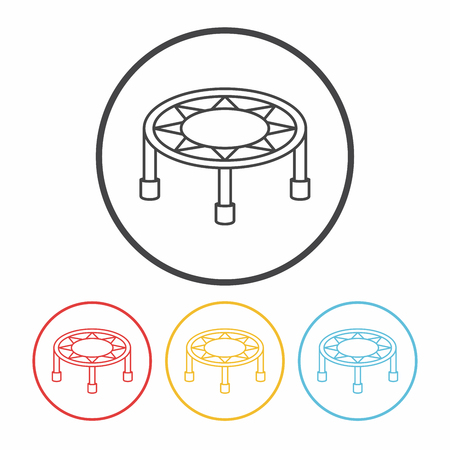 coil spring: Bouncing bed line icon