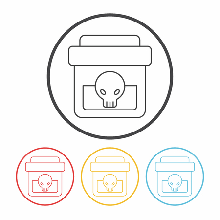 poison: Poison line icon Illustration