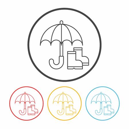 umbrella line icon