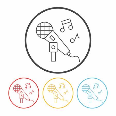 singing line icon Vector Illustration