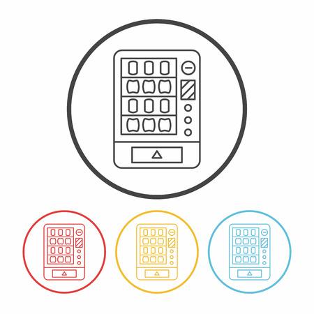 vending machine line icon Illustration