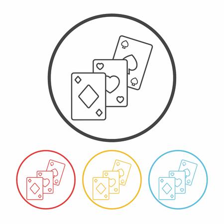 play card: play card line icon