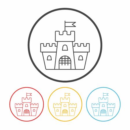 historical building: castle line icon