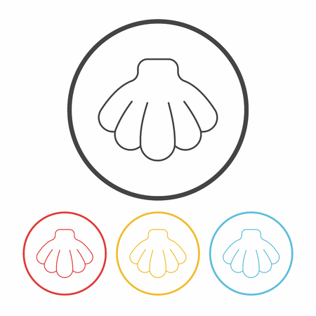 scallops: Shell line icon