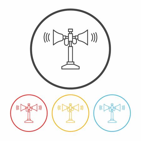loudspeaker: loudspeaker line icon