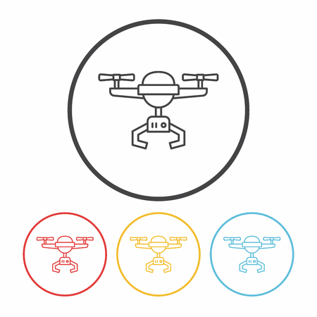 unmanned: Unmanned Aircraft line icon