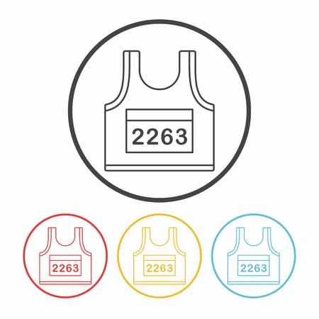 sportswear: Sportswear line icon Illustration