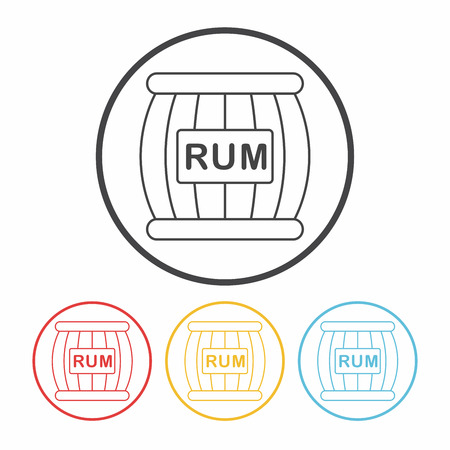 wine barrel: wine barrel line icon Illustration