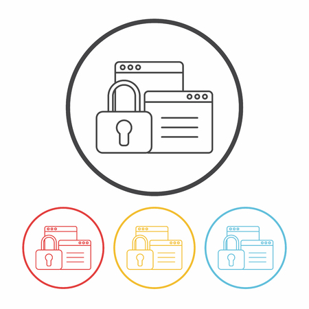 security lock: security line icon