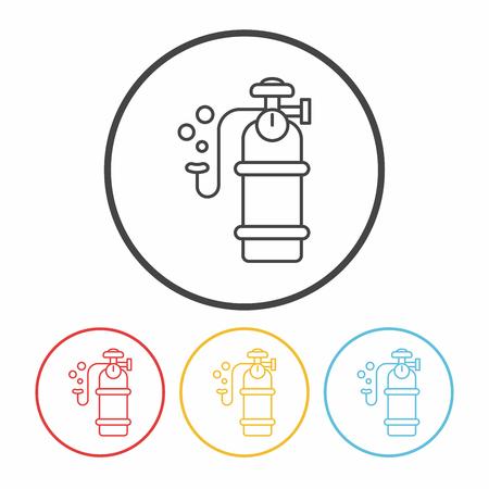 cilindro: Oxígeno icono de línea de cilindros