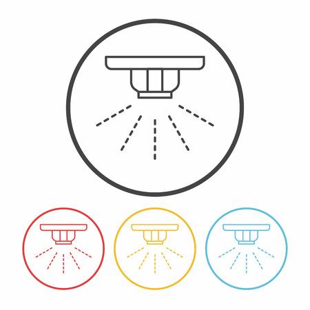 rinse: Sprinklers line icon