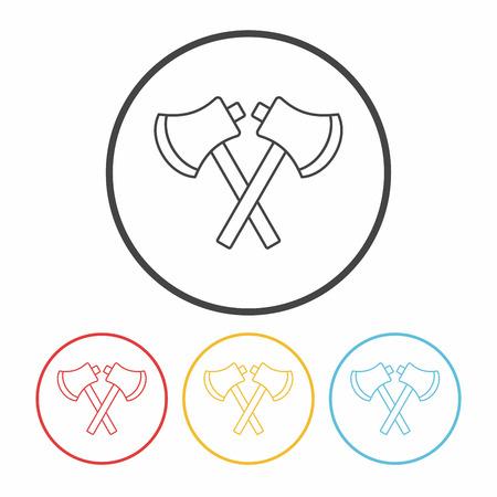 hatchet: Hatchet line icon