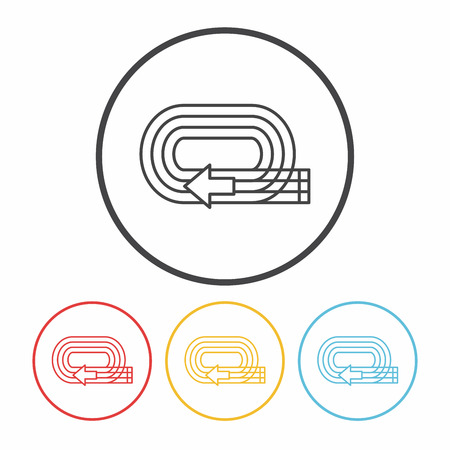 runaway: Playground track line icon Illustration