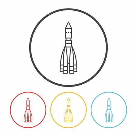 missile: Missile line icon Illustration