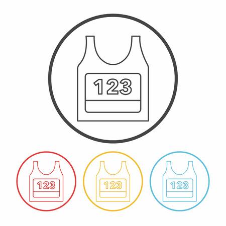 ropa deportiva: Icono de línea de ropa deportiva